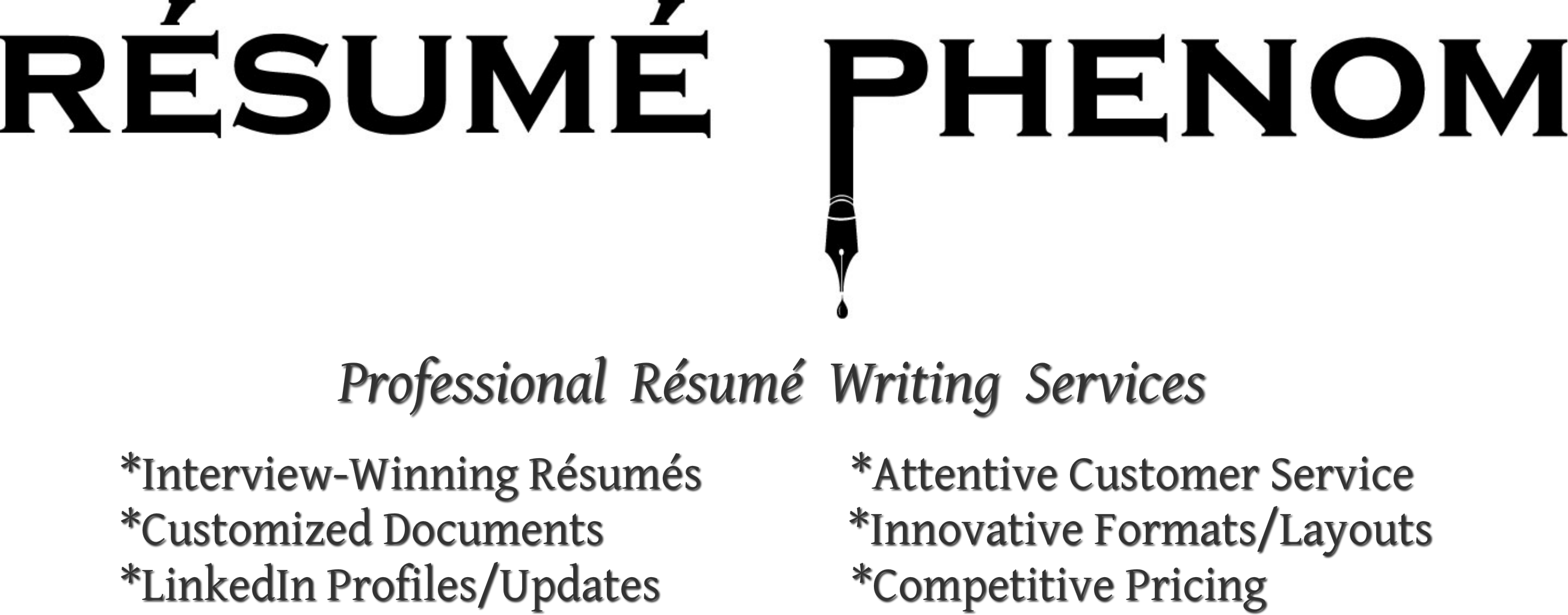 resume phenom  llc - professional resume writing services